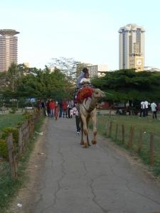 Awas kena onta! Suatu senja di Uhuru Park, taman umum di pusat kota Nairobi yang selalu ramai pas akhir pekan